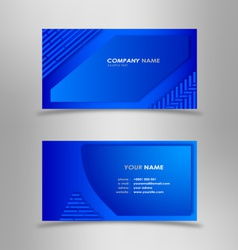 Abstract modern blue business card vector image vector image