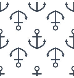 Anchor seamless pattern vector image vector image