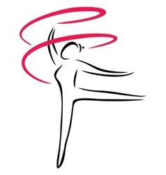 Artistic gymnastics vector image