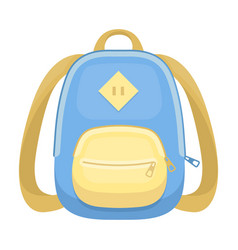Blue school bag a school bag for a book and vector