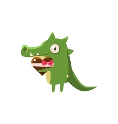 Crocodile party animal icon vector