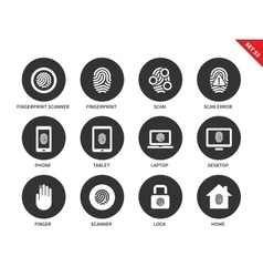 Finger-print icons on white background vector