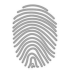 Fingerprint the black color icon vector