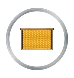 Frame with honeycomb icon in cartoon style vector image