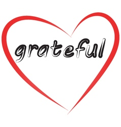 Grateful image vector