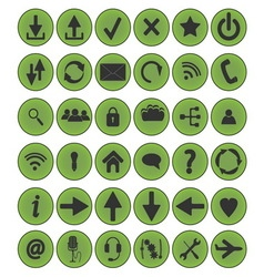 icon set circle vector image