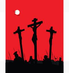 Jesus christ crucifixion vector