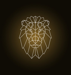 Lion portrait abstract geometric vector