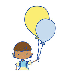 nice boy with balloons design in the hand vector image