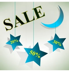 Night Sale Board Design vector image