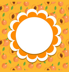 Peach label wrapper template for your design vector