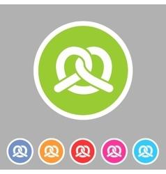 Pretzel bakery icon flat web sign symbol logo vector