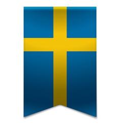 Ribbon banner - swedish flag vector image vector image