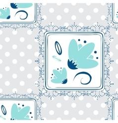 Seamless Repeating Background - Polka Dot Roses vector image vector image