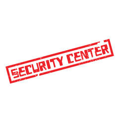 Security center rubber stamp vector