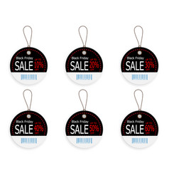 set of black friday price discount sale tag label vector image vector image