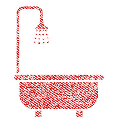 Shower bath fabric textured icon vector