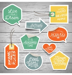 slogans stickers abstract dream vector image vector image