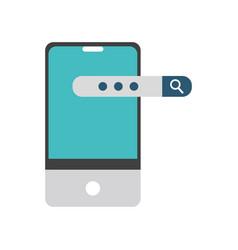 Smartphone and seo design vector