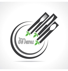 template for menu card with cutlery vector image