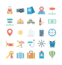 Travel and Tourism Colored Icons 1 vector image vector image