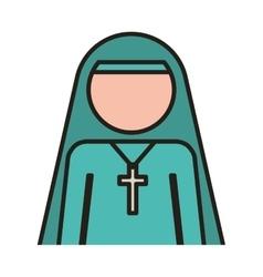 Woman nun icon vector