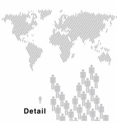 world people vector image