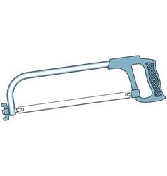 Metal saw tool vector image