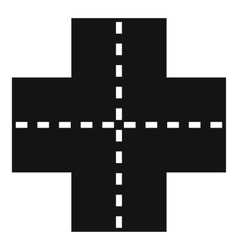 Crossroad icon simple style vector