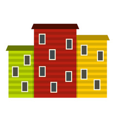 Multicolored argentine houses icon isolated vector