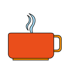 Color image cup of coffee with steam vector