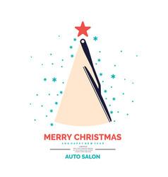Poster for auto salon vector