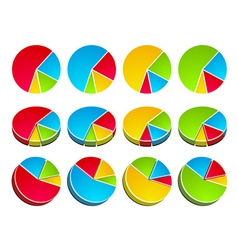 3d rounded graphs vector