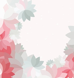 Abstract petal pink flower background vector