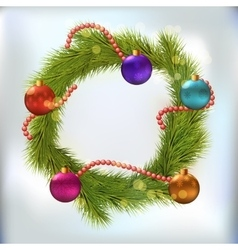 Christmas wreath decorated vector image