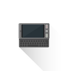 Flat style gray communicator qwerty slider icon vector