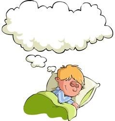 boy sleeps vector image