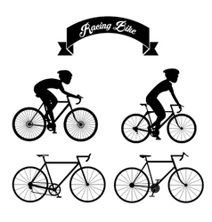 Racing bike design vector