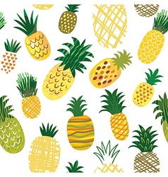 Seamless pattern with ananas vector