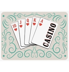 Casino calligraphic vintage style poster vector