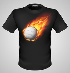 T shirts black fire print man 28 vector