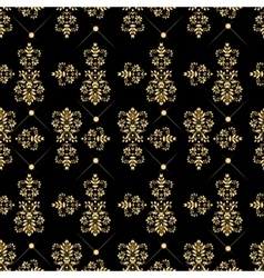 Seamless pattern with luxury damask ornament vector