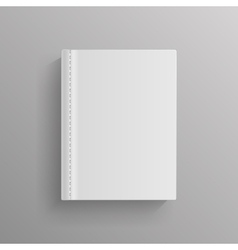 White blank book cover template vector