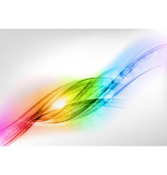 background rainbow shine vector image