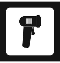 Barcode scanner icon simple style vector