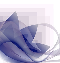 blue waves transparent and flower pattern vector image vector image