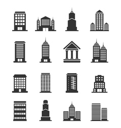 Building office an icon vector