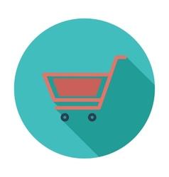 Cart flat single icon vector image
