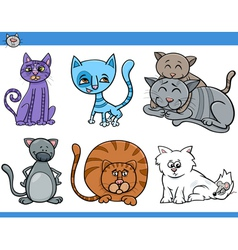 cats set cartoon vector image vector image