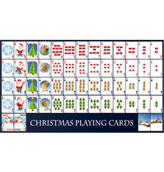 Christmas playing cards vector